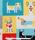 Blizzard Fleece Fabric 59\u0027\u0027-Dog Patchwork