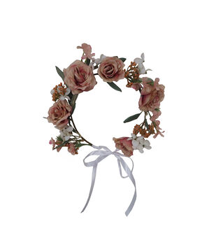 Blooming Autumn Mood Rose & Berry Crown-Pink