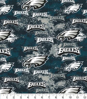 Philadelphia Eagles Cotton Fabric-Distressed, , hi-res