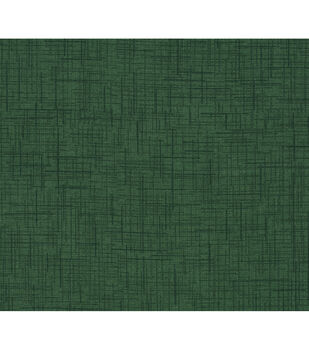 Keepsake Calico Cotton Fabric-Dark Green Crossed Lines