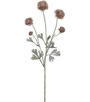 Bloom Room 28'' Ranunculus Spray-Brown