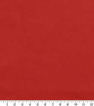 Faux Suede Stretch Fabric-Haute Red