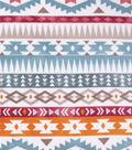 Anti-Pill Plush Fleece Fabric-Bright Southwest Geometric