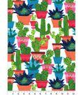 Snuggle Flannel Fabric -Watercolor Cacti
