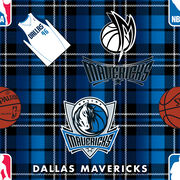 Dallas Mavericks Fleece Fabric -Plaid, , hi-res
