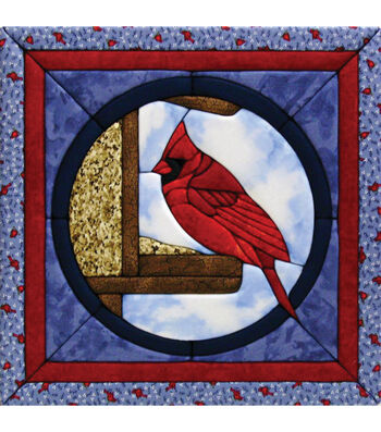 "Cardinal Quilt Magic Kit-12""X12"""
