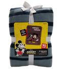 Disney No Sew Fleece Throw 48\u0022-Mickey Happy Stripe