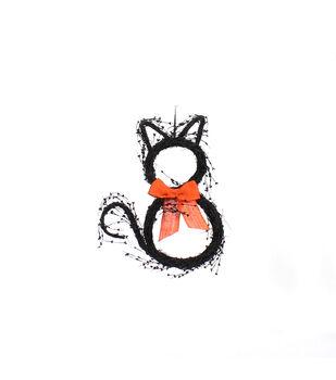 Maker's Halloween Pepperberry Cat Wreath