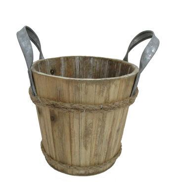 Blooming Autumn Small Wooden Bucket