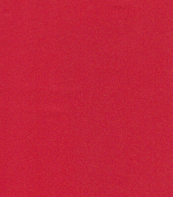 Glitterbug Satin Fabric -Red Solid