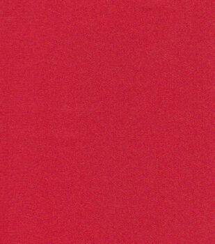 Glitterbug Satin Fabric -Red Solid