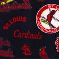 St. Louis Cardinals Fleece Fabric-Cooperstown