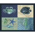 Novelty Cotton Fabric Panel 44\u0022-Sea Creature