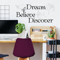 York Wallcoverings Wall Decals-Dream, Belive, Discover