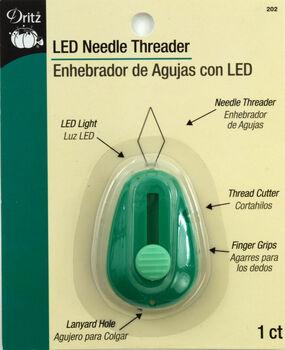 LED Lighted Needle Threader-Green