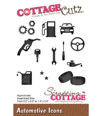"CottageCutz Die-Automotive Icons .2"" To 1.3"""
