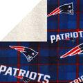 New England Patriots Fleece Fabric-Plaid Sherpa