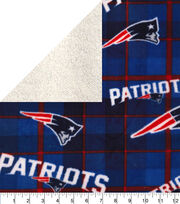 New England Patriots Fleece Fabric-Plaid Sherpa, , hi-res