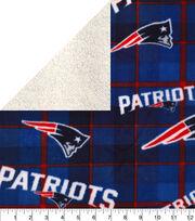 New England Patriots Fleece Fabric-Plaid Sherpa, , hi-res