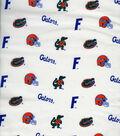 University of Florida Gators Cotton Fabric -White