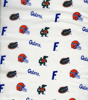 "University of Florida Gators Cotton Fabric 43""-White, , hi-res"