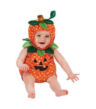 Maker's Halloween 6-12 months Infant Pumpkin Romper Costume