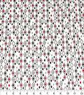 Quilter\u0027s Showcase Cotton Fabric-Red & Black Diamonds on White