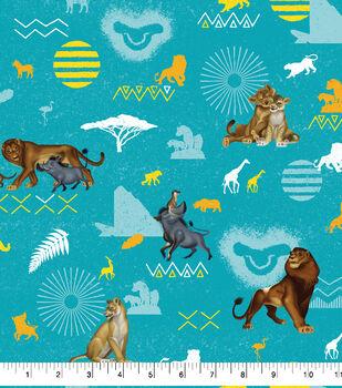 Disney Lion King Cotton Fabric-Badges