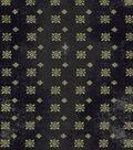Vintage Cotton Fabric 43\u0022-Intricate Squares Black