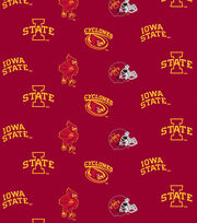Iowa State University Cyclones Cotton Fabric -All Over, , hi-res