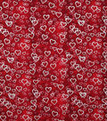 Valentine\u0027s Day Cotton Fabric-Falling Hearts Foil