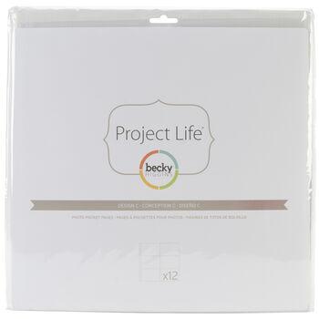 Project Life Photo Pocket Pages 12/Pkg-Design C
