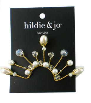 hildie & jo 1.5'' Wire Hair Vine with Pearls-Gold