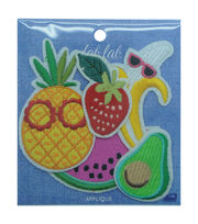 Fab Lab Wearables 5 pk Assorted Fruit Iron-on Appliques, , hi-res