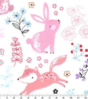Nursery Flannel Fabric-Bear And Friends
