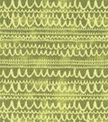 Modern Cotton Fabric -Scribble Lines on Green