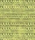 Modern Cotton Fabric 43\u0027\u0027-Scribble Lines on Green