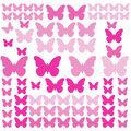 York Wallcoverings Wall Decals-Pink Flutter Butterflies