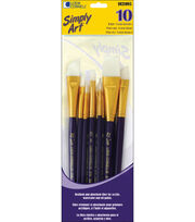 Loew-Cornell Simply Art White Nylon Brush Set, , hi-res