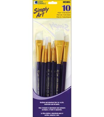 Loew-Cornell Simply Art White Nylon Brush Set