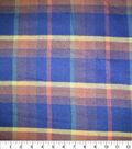 Sportswear Acrylic Fabric 52\u0022-Navy, Orange & Green Plaid