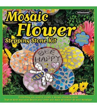 Mosaic Stepping Stone Kit-Flower