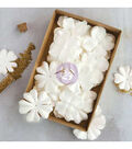 Prima Marketing 24 pk Boxed Flowers with Glitter-Purity