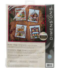 Dimensions Counted Cross Stitch Kit-Winter Village Ornaments