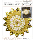 K&Company White And Gold Medallion Gift Embellishment
