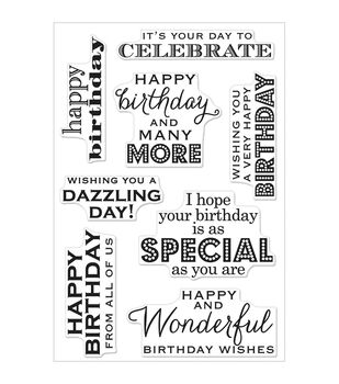 "Hero Arts Clear Stamps 4""X6"" Sheet-Birthday Wishes"