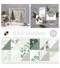 DCWV 12\u0022x12\u0022 Premium Stack-White Christmas