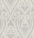 IMAN Home Upholstery Fabric 55\u0022-Isen Damask/Smoke