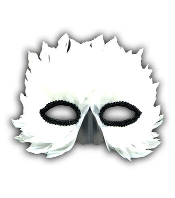 Maker's Halloween White Feather Bird Mask