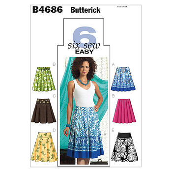 Butterick Misses Skirt-B4686